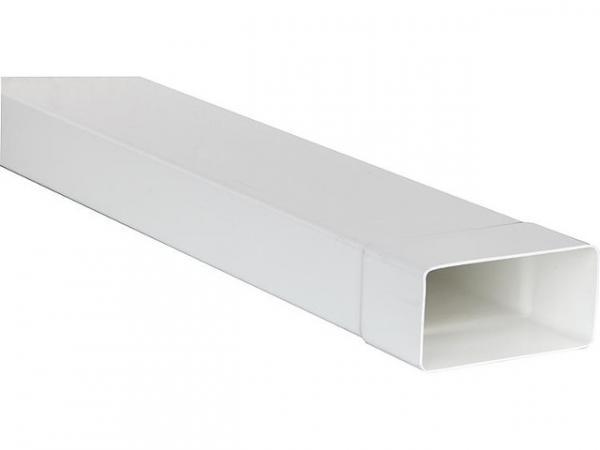Upmann 66851 Flachrohr System 100 110x53 mm weiß Länge 10 m mit Muffe