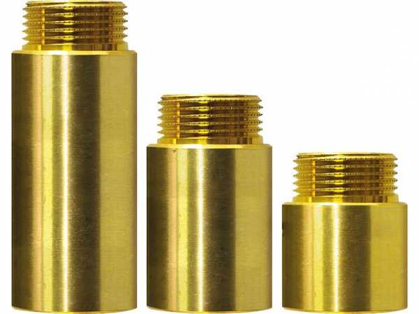 Hahnverlängerung 1/2' 15mm - Messing