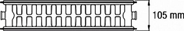 Ventil-Heizkörper mit 6-fach- Anschluss 1/2'' - 22/500/600 Farbe: RAL 9016