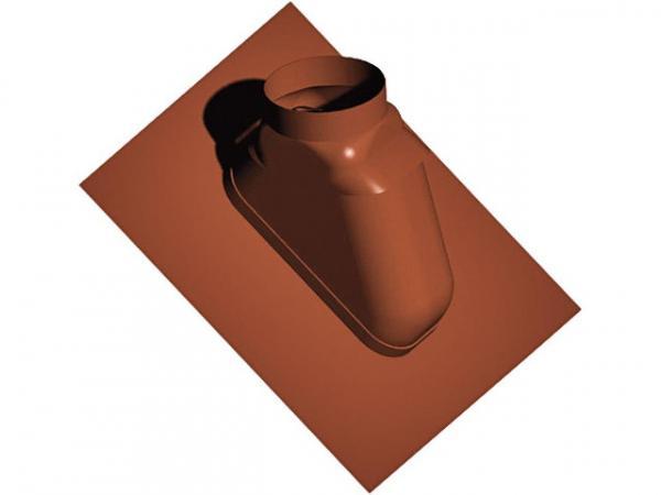 Kunststoff-Abgassystem Schrägdachpfanne 25-55°, schwarz, flexibel, DN 80/125