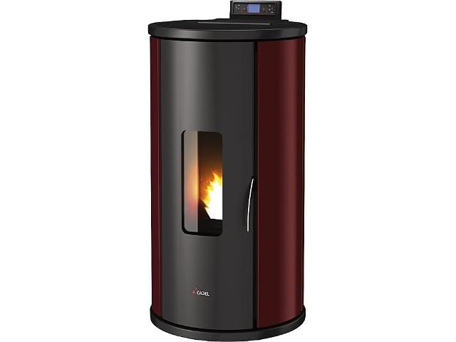 pelletofen mit warmluftverteilung sfera plus 10 5 kw. Black Bedroom Furniture Sets. Home Design Ideas