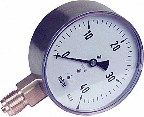Kapselfedermanometer KP 100.2 0-40 mbar