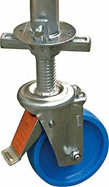 Fahrrollensatz D=150mm (4 Stück) höhenverstellbar 115mm