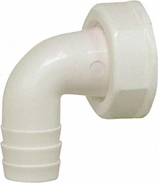 Schlauchtülle 3/4'' / 90° passend für alle PP-Sifons weiß
