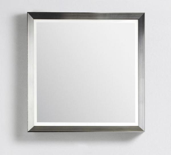 DANSANI 188749011 Rahmenspiegel glatt mit Beleuchtung und Wärmefeld B-120 cm