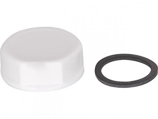 Blindkappe DN 25 (1') Kunststoff weiss mit Dichtung