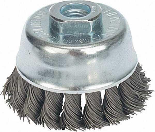 Topfbürste gezopfür Stahldraht 0, 50mm 80mm x M 14 x 2,0