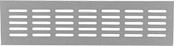 Lüftungsblech Alu 400x100mm weiß RAL 9016