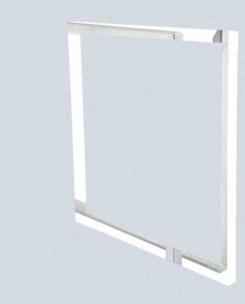 DIMPLEX 370270 ARLK600 Abschlussrahmenset für Luftkanäle 600 x 600 x 25 mm