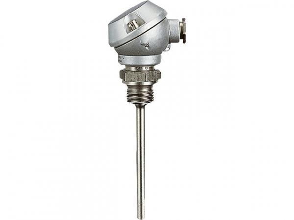 Jumo 55692 Einschraub-Widerstandsthermometer mit Anschlusskopf Fühler 6x50 mm Einsatztemp. -50 - 400 C°