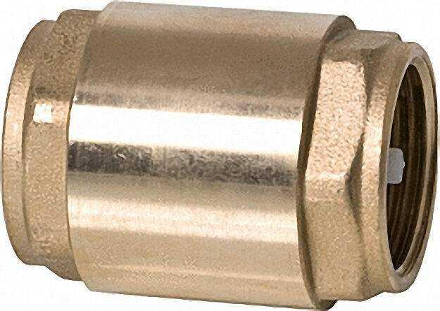 Rückschlagventil aus Messing mit Metalleinsatz und Vitondichtung 1 1/4
