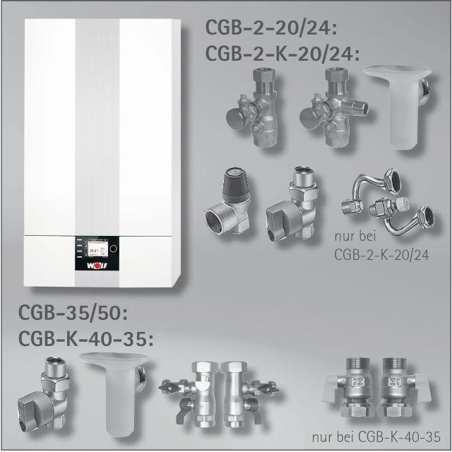 8613110C13 Paket Brennwerttherme CGB-50 Erdgas E