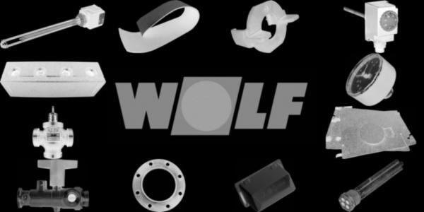 WOLF 8907812 Designelement unten komplett klein,Weiß