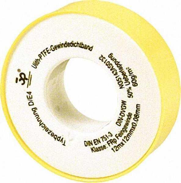 PTFE-Gewindedichtband GRp (Grobgewinde) 1 Stück gelber Kern/gelbe Hülle