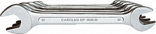 CAROLUS Doppel-Maulschlüssel- Satz, 8-tlg., 6 x 7 - 20 x 22