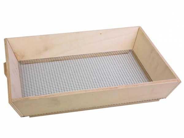 Perel Sieb Maschenweite 6x6 mm sieben filtern fein Erde Sand Garten pflanzen