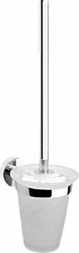 Toilettenbürstengarnitur Serie 8000 Messing, verchromt, Opalglas spitz Bürste: weiß