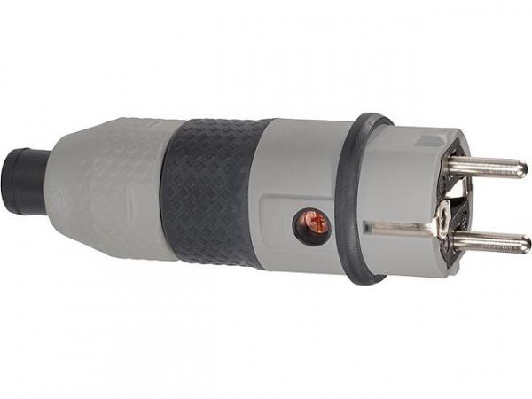 Schukostecker uLiter II grau, IP 54, 16A, 250V