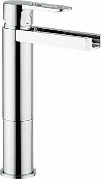 EH-Waschtischmischer New Road Schwallauslauf hohe Version, Ausladung 128mm, Auslaufhöhe 184mm