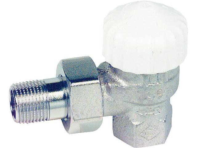 3711-02.000 Thermostatventil V-Exakt Rotguß vernickelt R 1/2