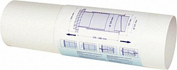 Teleskoprohre weiß, 125mm