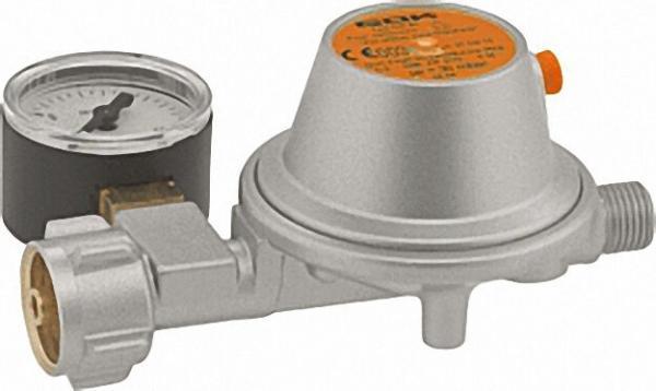 Regler Gas 1, 5 kg/h 50 mbar PN 16 KLF x G1/4 LH-KN SBV Manometer
