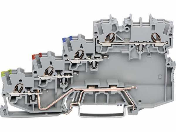 4-Leiter-Initiatorenklemme Wago 2000-5417 VPE: 50 Stück