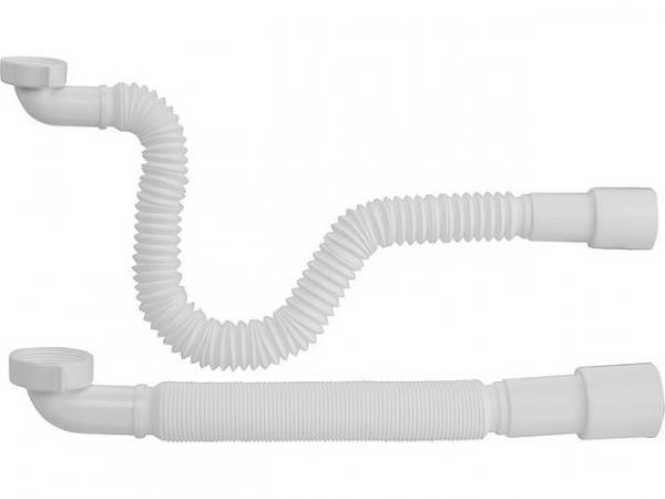 """Flexibler Anschluss-Schlauch 90° Winkel 1 1/2""""x50/40mm, Länge 400-850mm"""