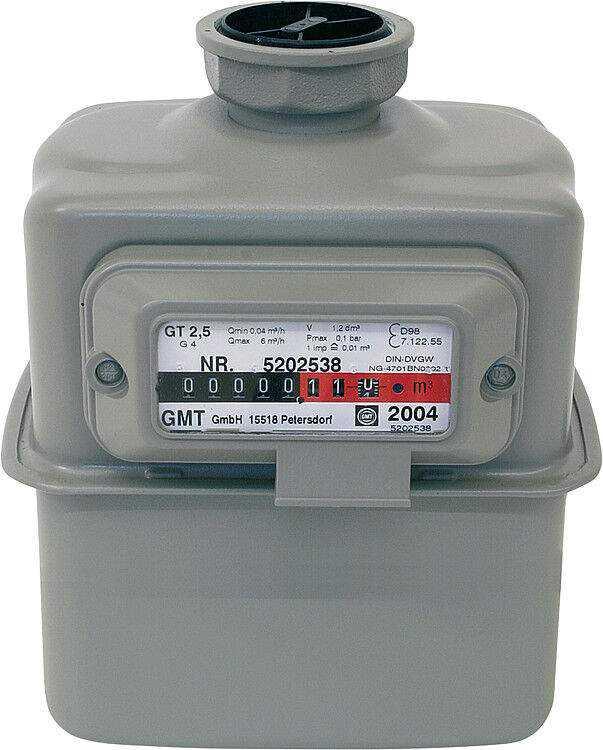 Gaszähler G 2,5 DN 25 Einstutzenausführung inklusive Eich- und Beglaub