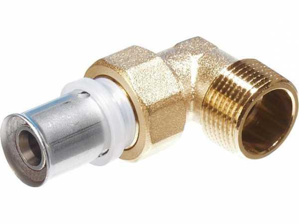 Pressfitting für MSVR Winkelverschraubung mit AG 20x2 - 3/4'' TH-Kontur