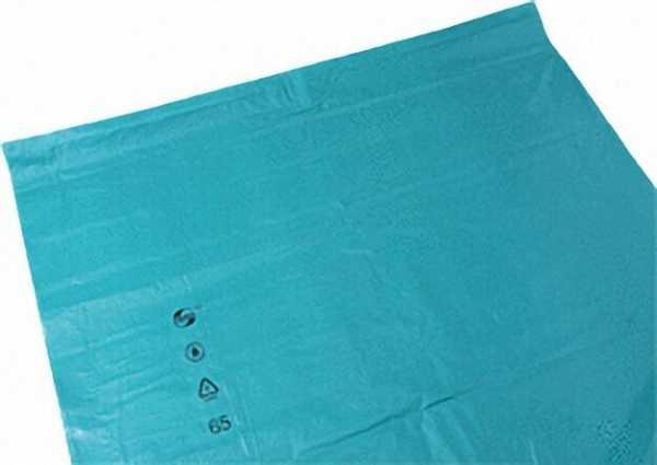 Abfallsack Premium 240 Liter Größe 650+550x1350x0,06mm VPE = 100 Stück