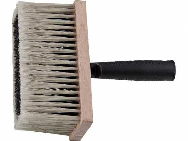 Ind. -Deckenbürste 170x170mm, Holzkörper Synthetik-Borste in Bündeln