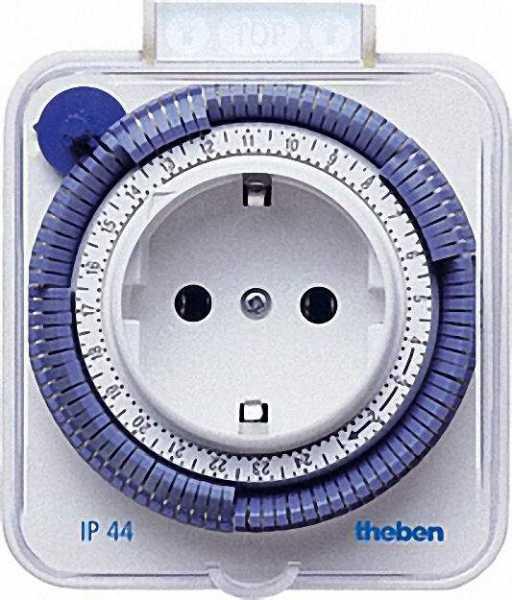 THEBEN -Timer 26 IP 44 weiß 24 Stunden/spritzwassergeschützt