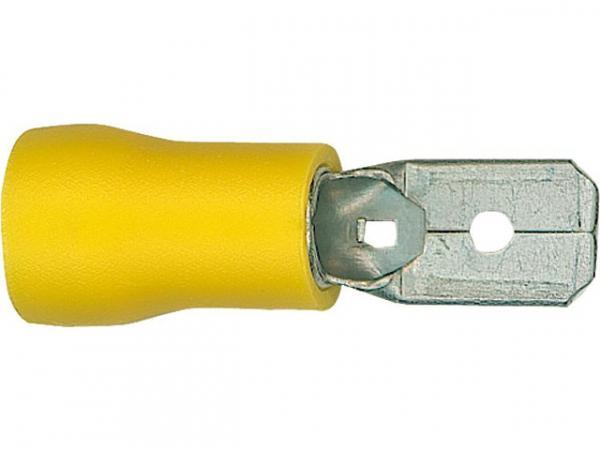 100 Flachstecker GELB 6,3 x 0,8 mm Kabelschuhe 4,0-6,0mm² Quetschverbinder