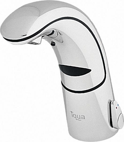 IQUA Waschtischmischer A 30 drucklos chrom Batteriebetr. ohne Ablaufgarnitur