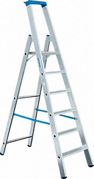Stufen-Steh-Leiter Arbeitshöhe 3, 40 Standhöhe 1, 40 Höhe 2, 21 6 Stufen