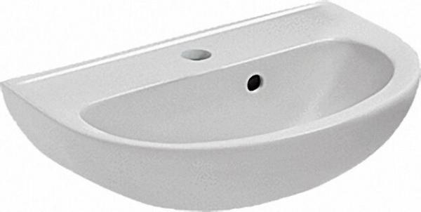EVENES Eurovit Handwaschbecken 1 Hahnloch, Überlaufloch seitlich BxTxH= 500x350x190mm