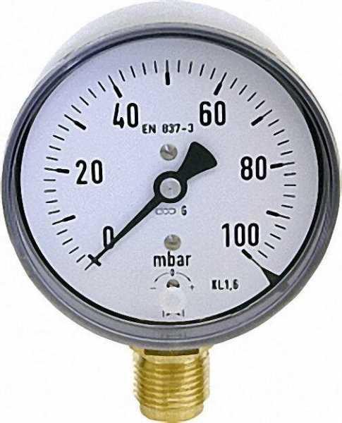 Kapselfedermanometer KP 80.2 0-40 mbar