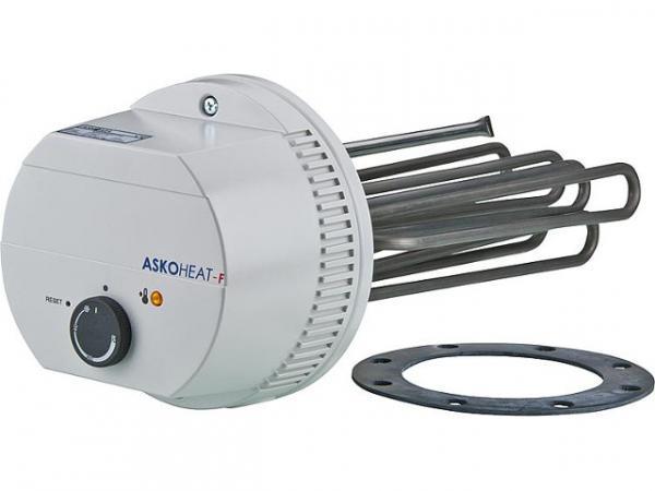 Flanschheizkörper 2,5 KW 230V AC/3x400V AC Flansch Drm. 180mm Einbaulänge: 310mm