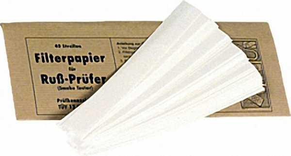 Filterpapier zur Rußzahlbestimmung 1 Umschlag mit 40 Streifen