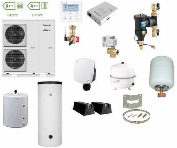 Panasonic Aquarea Luftwärmepumpe Monoblock, 400V 9 kW, Inverter, WH-MDC09H3E5, Speicher 300L