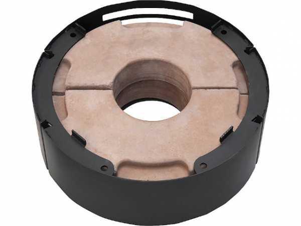 Energie-Segment W+, E-Block zum Kaminofen Ostro Stahl schwarz