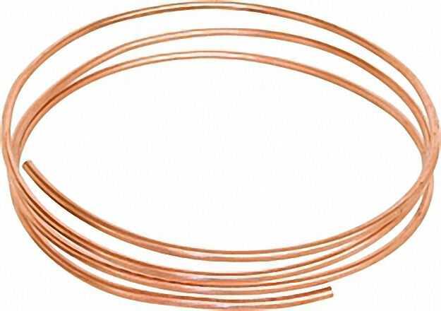 Anschlusszubehör für Ölzähler Cu-Rohr weich in Ringen 4mm Meterware