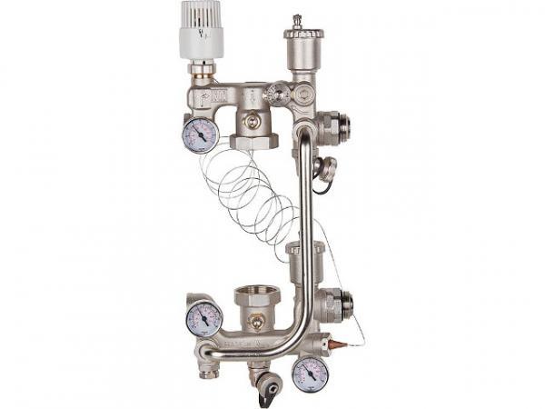 Fußboden Temperaturregeleinheit Combimix 2 für Pumpen-Baulänge 180 mm, ohne Bypass