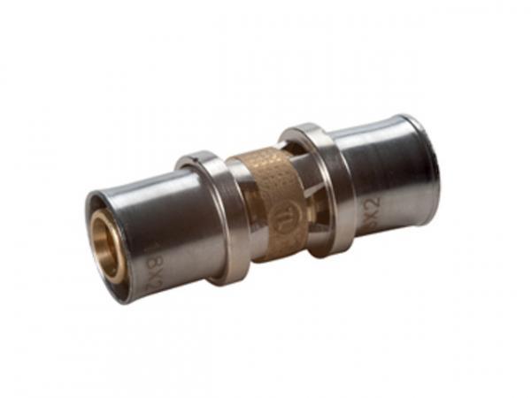 Giacomini RM102 Pressfitting als Kupplung für Mehrschichtverbund- und Kunststoffrohre