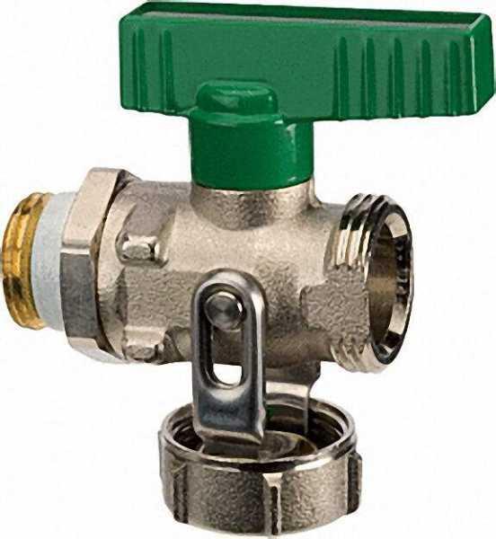 KFE-Kugelhahn PN 16 für Trinkwasser Durchgang vernickelt