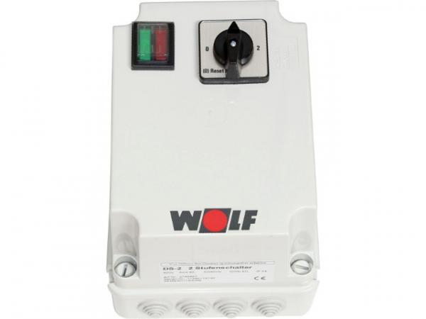 Wolf 2-Stufenschalter DS-2 Motorvollschutzschalter 8A, 400 V