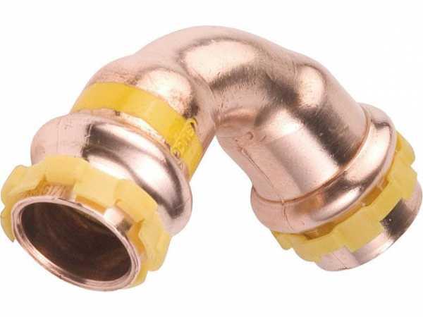 Kupfer Pressfitting Gas Bogen 90° D: 54mm PG 5002 Gas, i/i