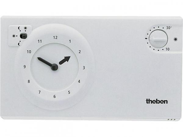 THEBEN -Uhrenthermostat RAM 784 S weiß Segmente, 24 Std. -Programm