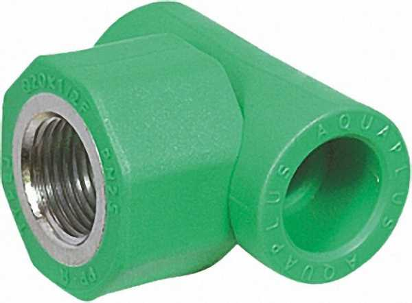PPR Rohr Aqua-Plus T-Stück IG PN25 25mmx1/2''x 25mm